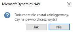 Powiadomienia w Microsoft Dynamics NAV